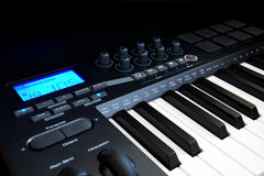 Professional MIDI-keyboard Stock Photography