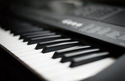 Professional midi keyboard synthesizer. Royalty Free Stock Image