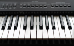 Professional midi keyboard synthesizer. Royalty Free Stock Photography