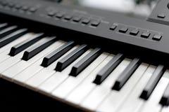 Professional midi keyboard synthesizer. Stock Image