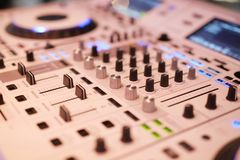DJ mixing console royalty free stock image