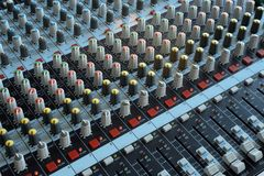 Professional mixing console Stock Image