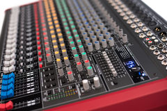 Professional Mixing Console Stock Images