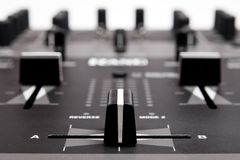 Professional Mixing Controller for dj Royalty Free Stock Image