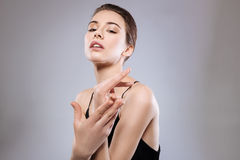 Professional model demonstrating her hands Royalty Free Stock Images
