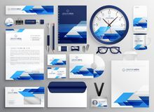 Professional modern business stationery set design for your bran. D identity stock illustration