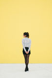 Professional modern business woman waiting Stock Photo