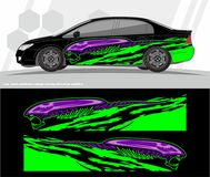 Car and vehicles wrap decal Graphics Kit vector designs. ready to print and cut for vinyl stickers. Professional Modern Car Bike Vehicle Graphics, Vinyls wrap Stock Photography