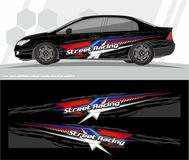 Car and vehicles wrap decal Graphics Kit vector designs. ready to print and cut for vinyl stickers. Professional Modern Car Bike Vehicle Graphics, Vinyls wrap Royalty Free Stock Photography