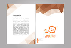 Professional modern design flyer Stock Images