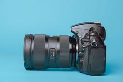 Professional modern DSLR camera Stock Images