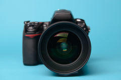 Professional modern DSLR camera Royalty Free Stock Images