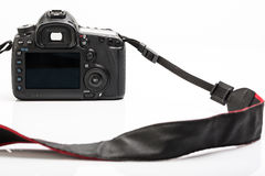 Professional modern DSLR camera Stock Image