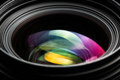 Professional modern DSLR camera lense ow key image Royalty Free Stock Images