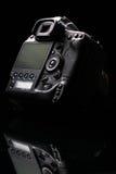 Professional modern DSLR camera low key image Stock Photo