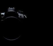 Professional modern DSLR camera low key stock photo/image Stock Photography