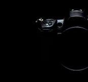 Professional modern DSLR camera low key stock photo/image Royalty Free Stock Photography