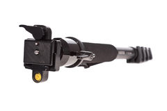 Professional monopod with ball-head isolated Stock Image