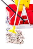 Professional mop bucket detail Stock Images