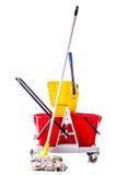 Professional mop bucket isolated Stock Photos