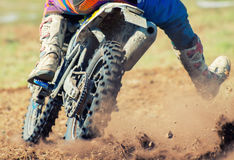 Professional motocross rider. Royalty Free Stock Photography
