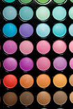 Professional multicolor eyeshadow pale Royalty Free Stock Photos