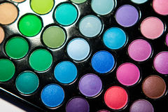 Professional multicolor eyeshadow pale Stock Images