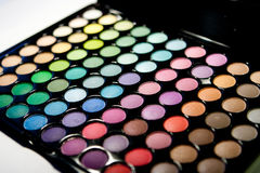 Professional multicolor eyeshadow pale Stock Image