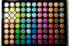 Professional multicolor eyeshadow pale Royalty Free Stock Photo