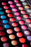 Professional multicolor eyeshadow pale Royalty Free Stock Photography