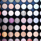 Professional multicolor eyeshadow palette Royalty Free Stock Photos
