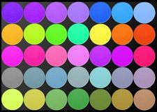Professional multicolor eyeshadow palette Royalty Free Stock Photo