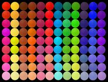 Professional multicolor eyeshadow palette Stock Images