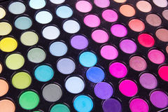 Professional multicolour eyeshadows palette Royalty Free Stock Photo