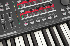 Professional musical synthesizer Royalty Free Stock Photo