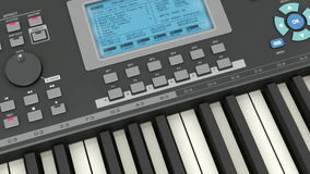 Professional musical synthesizer stock video