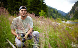 Professional nature photographer Stock Image