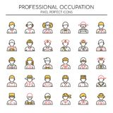 Professional Occupation , Thin Line and Pixel Perfect Icons Royalty Free Stock Photo