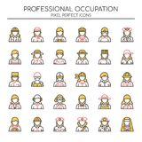 Professional Occupation , Thin Line royalty free illustration