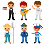 Professional occupations icons Royalty Free Stock Photography