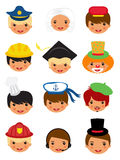 Professional occupations icons Stock Photos
