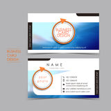 Professional ocean style vector business card set Royalty Free Stock Photos