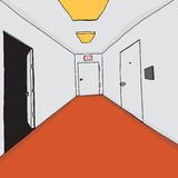 Professional Office Corridor Stock Image