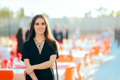 Event Planner PR Specialist Woman Organizing Outdoor Party Royalty Free Stock Photo