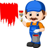 Professional painter cartoon Royalty Free Stock Image