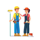Professional painters. Craftsman workers. In uniform. Flat style modern vector illustration Stock Image