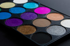 Professional pallet of eyeshadow Stock Photography