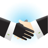 Professional partnership. Business people handshake illustration. Shaking hands gesture Royalty Free Stock Photography
