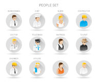Professional people icon set. People avatar symbols. People profile collection. Vector illustration. Stock Images