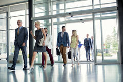 Professional people on the way in building royalty free stock image